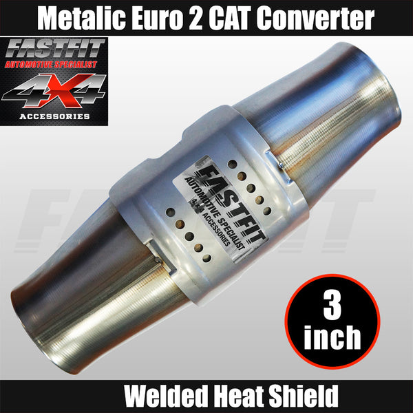 "Fastfit 3"" Universal Euro 2 Metallic Catalytic Converter"
