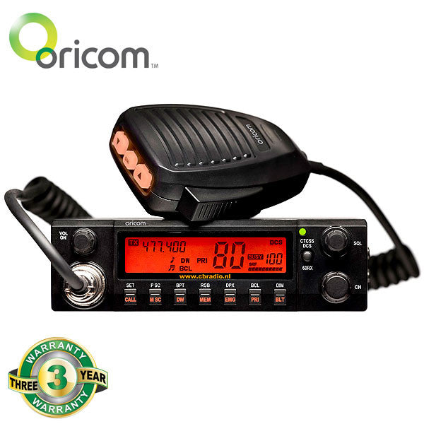 Oricom 5 Watt 2 - Way CB Radio (in Vehicle)