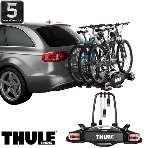 thule velocompact 927 towbar mounted 3 4 x bike carrier. Black Bedroom Furniture Sets. Home Design Ideas