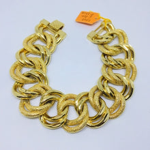 Load image into Gallery viewer, Thick & Wide 24k Gold Plated Bracelet