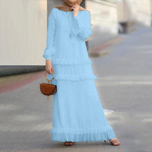 Load image into Gallery viewer, Katlyn Tiered Ruffles Simplicity Modest Dress