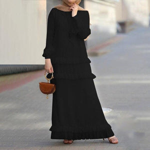 Katlyn Tiered Ruffles Simplicity Modest Dress