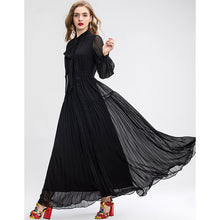 Load image into Gallery viewer, Runway Embroidered Black Maxi Modern Modest Dress