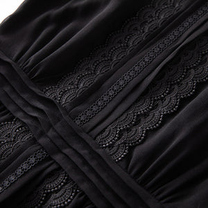 Runway Embroidered Black Maxi Modern Modest Dress