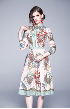 Load image into Gallery viewer, Runway Oriental Midi Dress