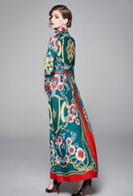 Load image into Gallery viewer, Runway Oriental Maxi Long Dress