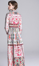 Load image into Gallery viewer, Runway Multi Print Designer Maxi Long Dress