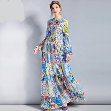 Load image into Gallery viewer, Designer Runway Maxi Plus size Long Dress