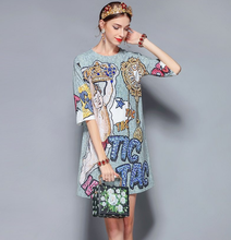 Load image into Gallery viewer, Runway Tic Tac Beaded Midi Dress