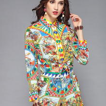 Load image into Gallery viewer, Runway Pantsuit Blouses + Shorts Two Pieces Set Suit