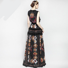 Load image into Gallery viewer, Runway Maxi Elegant Rose  Floral Embroidery Vintage Long Dress Plus Size Available