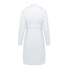 Load image into Gallery viewer, Vintage Double Breasted White Trench Coat Outerwear