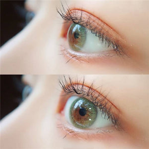 2pcs/ Pair IRIS SERIES Green Color Contact Lenses  for Dark Eyes - All Colors
