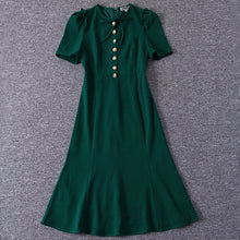 Load image into Gallery viewer, Kate Middleton Mermaid Milan Vintage Chic Green Dress