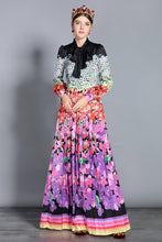 Load image into Gallery viewer, Runway Designer Vintage Royal Modest Modern Long Dress Plus Size Available