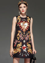 Load image into Gallery viewer, Runway Luxury Crystal Beading Sequin Vintage Midi Dress