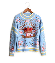 Load image into Gallery viewer, Runway Luxury Pullover Sweater Outerwear