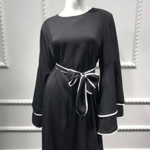 Load image into Gallery viewer, Jumiya White Lined Chanel Inspired Modest Dress