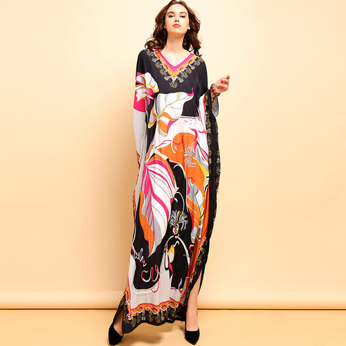 Designer Runway Royalty Kaftan Dress Plus Size Available
