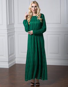 Drema Fully Lace Modest Dress Plus Size Available