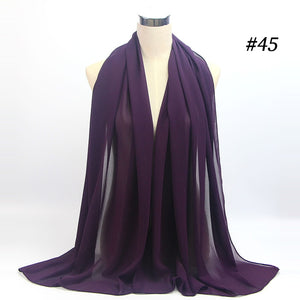10 pcs/lot Two Face Chiffon Shawl