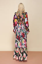 Load image into Gallery viewer, Off the Runway Classy Floral Print Flowy Modest Modern Long Dress Plus Size Available