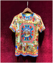 Load image into Gallery viewer, Designer Runway Exquisite Beaded Printed Tshirt