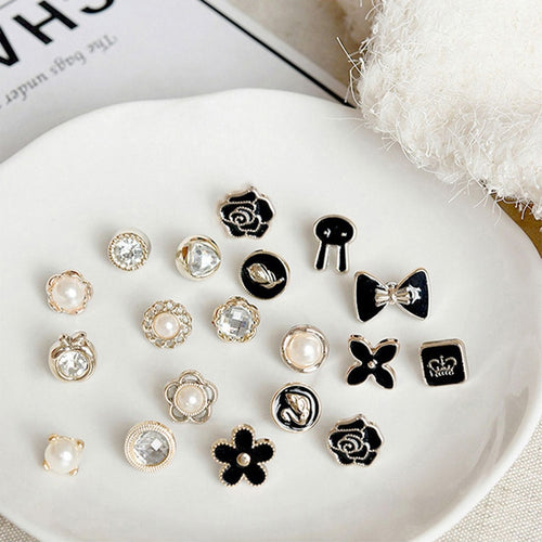 Chanel Inspired 10pcs/lot Imitation Pearl Circle Brooch Pins Accessories