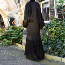 Load image into Gallery viewer, Lace Cardigan Outerwear Abaya Arabic Design