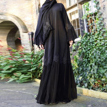 Load image into Gallery viewer, Rumany Lace Modern Abaya Kimono