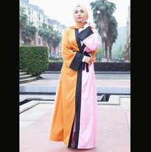 Load image into Gallery viewer, Color Block Abaya Kimono