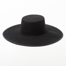 Load image into Gallery viewer, Classical High Grade Couture WIDE BRIM SPLICE TWO TONE WOOL FEDORA Dress Hat