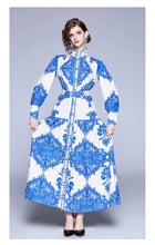 Load image into Gallery viewer, Vintage Runway Slimming Maxi Long Fluer Dress
