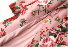 Load image into Gallery viewer, Runway Woolen  Double-breasted Vintage Floral outwear