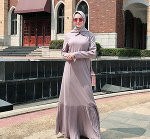 Zayitha Pleated Skirting Modest Dress