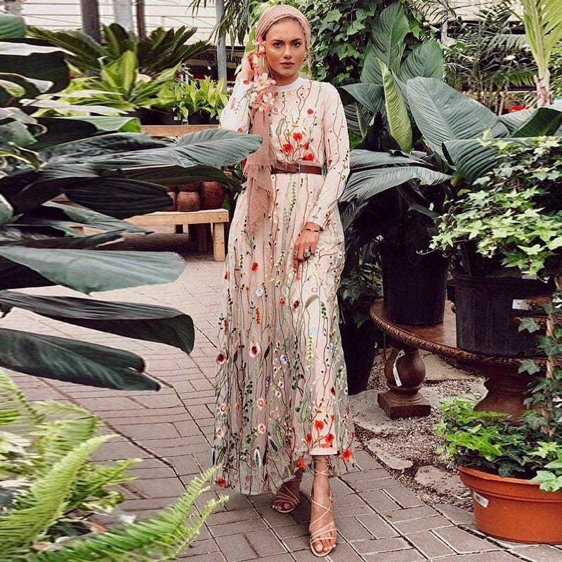 Shita Full Floral Lace Modest Dress