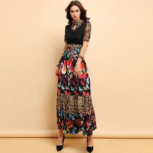 Elegant Runway Designer Long Modern Dress