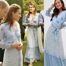 Load image into Gallery viewer, Kate Middleton Spring Chiffon Long Dress