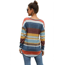 Load image into Gallery viewer, Multi Colored Striped Tshirts