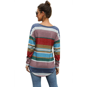 Multi Colored Striped Tshirts