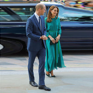 Princess Kate Middleton Chiffon Long Dress