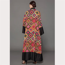 Load image into Gallery viewer, Patchwork Print Abaya Cardigan