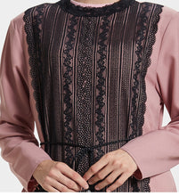 Load image into Gallery viewer, Shisa Lace Panel Modest Dress