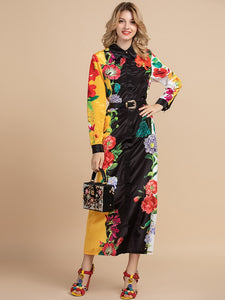Royal Runway Designer Printed Modest Long Dress Plus Size Available