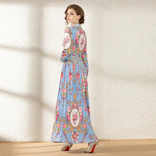 Load image into Gallery viewer, Runway Pleated Maxi Women's Long Charming Dress