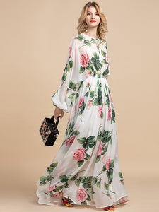 Runway Maxi Dresses Rose Long Dress Plus Size Available
