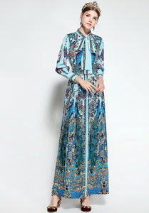 Runway Designer Vintage Elegant Royalty Modest Long Dress