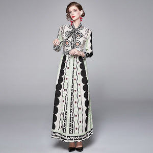 Runway Vintage Maxi Long Dress