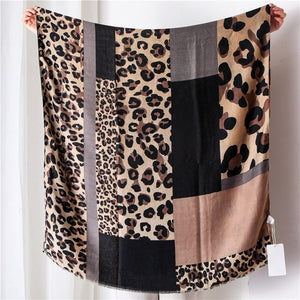 Luxury Animal Print Hijab Shawl