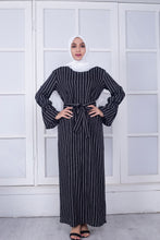 Load image into Gallery viewer, Tasha Simplicity Stripy Crispy Modest Dress
